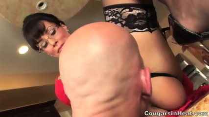 Mature Babe With Glasses Rides Dick - scene 2