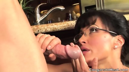 Mature Babe With Glasses Rides Dick - scene 4