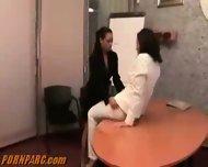 Hot Lesbians Office Sex - scene 9