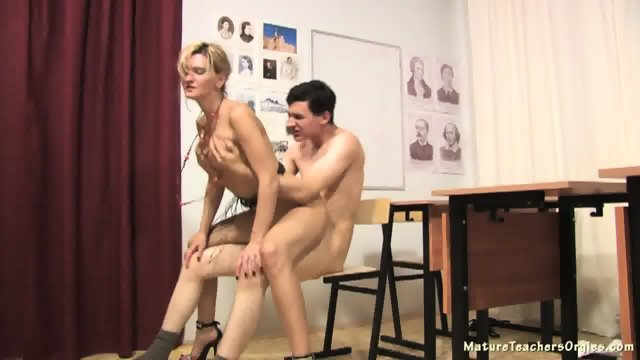 Sexy Teacher Abuses Student