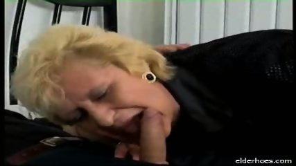 Blonde granny plumper driven hard - scene 3