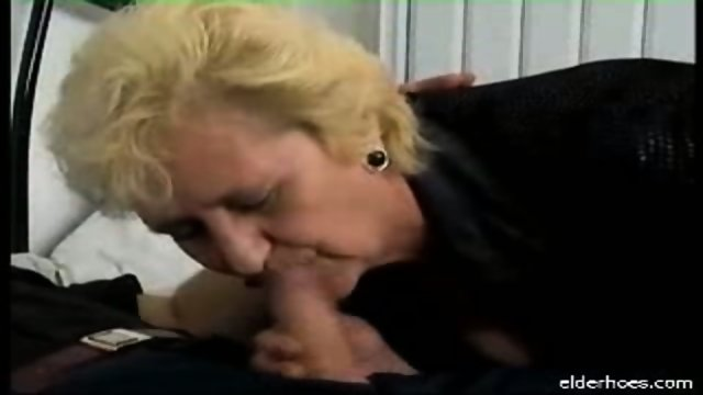 Blonde granny plumper driven hard