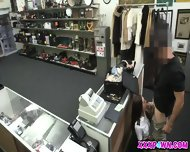 Stewardess And Her 2nd Hand Clothes Gets Fucked Hard At The Pawnshop