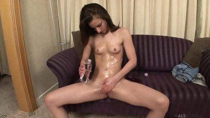 Hairbrush In Oiled Pussy - scene 3
