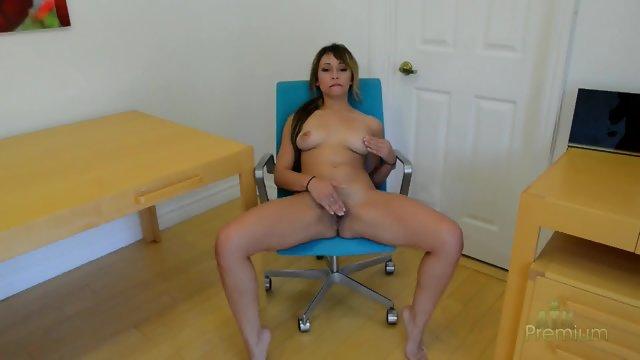 Masturbation On Chair And Desk