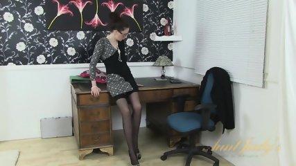 Mature Lady On Desk - scene 1