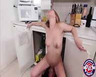 Petite Sexy Teen Sydney Cole Enjoys Sucking Dick In The Kitchen