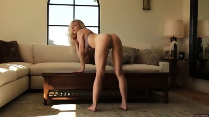 Charming Blonde On Sofa - scene 3