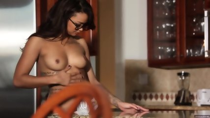 Beautiful Girl On Kitchen Coutertop - scene 4