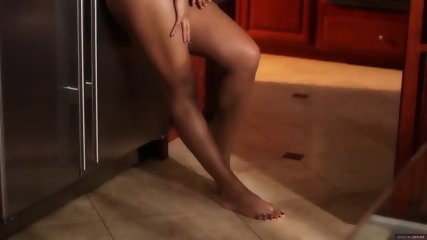 Beautiful Girl On Kitchen Coutertop - scene 5