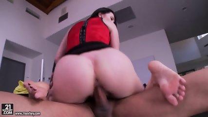Big Titty Footsie Fucked On Desk - scene 9