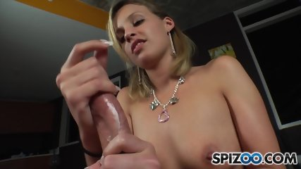 Handjob By Attractive Blonde
