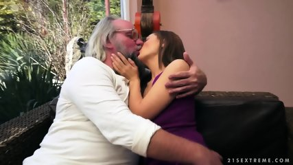Old Guy's Spunk In Young Pussy - scene 2