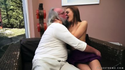 Old Guy's Spunk In Young Pussy - scene 3