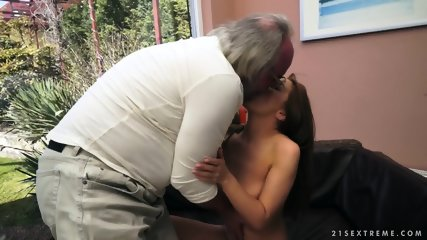 Old Guy's Spunk In Young Pussy - scene 4