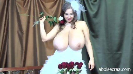 Busty Bride Shows Tits