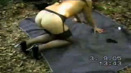 MILF decided to take a walk naked in the forest - scene 11