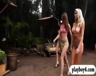 Three Badass Girls In Bikini Enjoyed Waterball Fighting