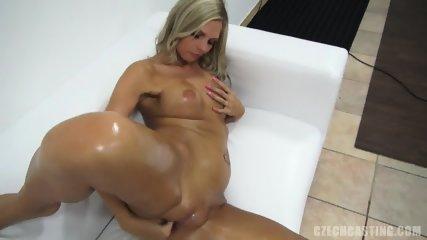 Attractive Blonde Amateur Rubs Vagina