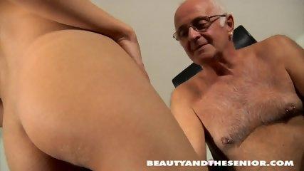 Teenage Maid Takes Old Guy's Dick - scene 4