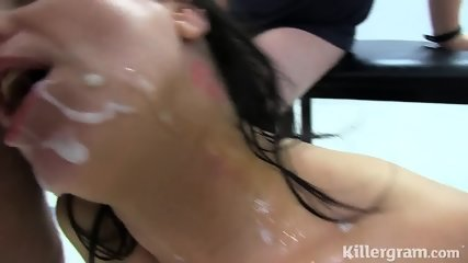 Hot Cougar Takes Dicks In Toilet - scene 12