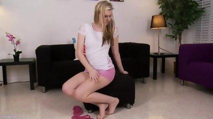 Sweet Blonde Stimulates Cunt - scene 1