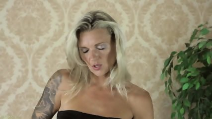 Solo On Bed By Hot Blonde With Stockings - scene 2