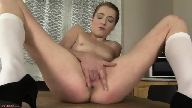 Sexy Teen In Solo Action On Table