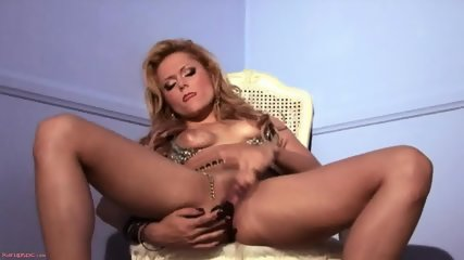 Solo By Horny Blonde With High-heels
