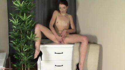 Sexy Secretary In Solo Action On Cupboard - scene 9