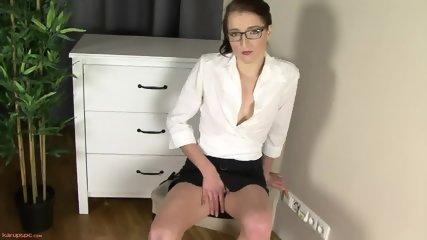 Sexy Secretary In Solo Action On Cupboard - scene 1