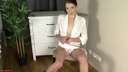 Sexy Secretary In Solo Action On Cupboard - scene 3