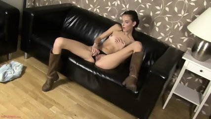 Hot Babe With Long Boots In Solo Action - scene 3