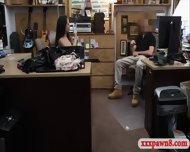 Hot Ex Dominatrix Fucked By Pawnkeeper In The Back Office