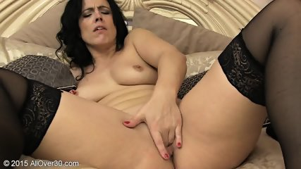 Fingers In Mom's Pussy