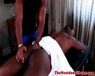 Ebony Massage Hunk Assfucked By Muscled Stud