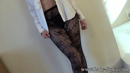 Mature Lady Shows Tits And Amazing Pantyhose - scene 10
