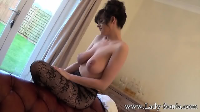 Mature Lady Shows Tits And Amazing Pantyhose