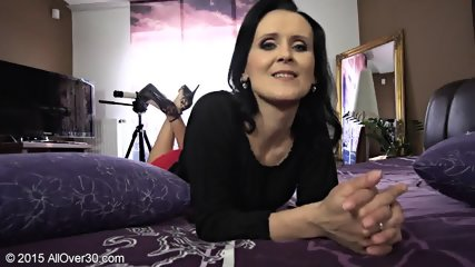 Naughty Mommy Shows Tits And Cunt - scene 1