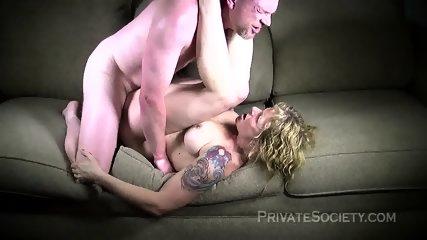 Strange Mature Blonde Fucked On Sofa