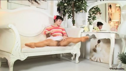 Lady With Pantyhose In Nice Action - scene 1