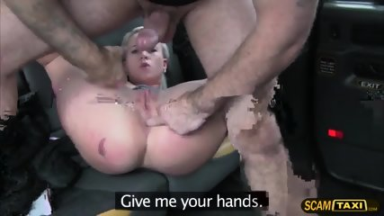 Blonde Czech Babe Bounces On Dudes Big Hard Cock In The Backseat - scene 10