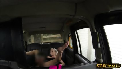 Blonde Czech Babe Bounces On Dudes Big Hard Cock In The Backseat - scene 4