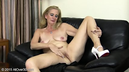 Granny Plays With Pussy