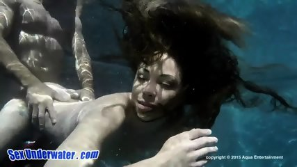 Charming Babe Gives Head Underwater - scene 3