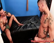 Tattooed Ebony Hunk Assfucked