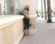Kirsten nude and masturbating in public - scene 5
