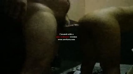 Guy cum on the back of his wife - scene 1