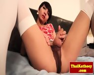 Thai Transsexual Hottie Solo Pleasuring