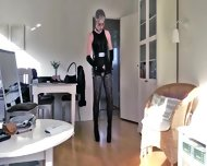 Sissy Humiliated In Sexy Leather 2